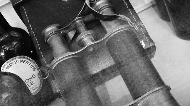 prismáticos, la brujula de shackleton