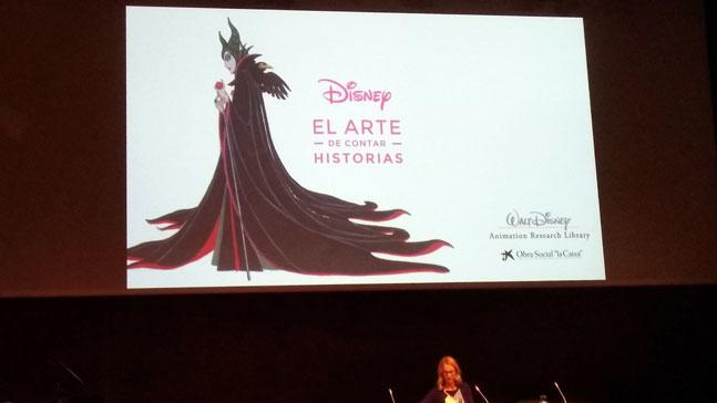 cartel de el arte de contar historias. Disney