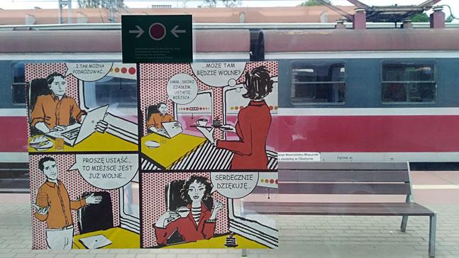 Piensa y comunica tus ideas. Comic en un tren