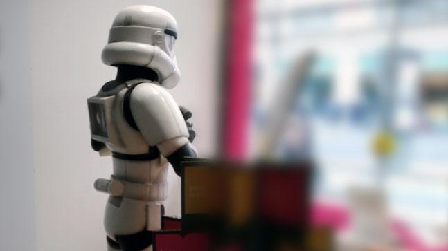 publicidad de la guerra galaxias: mito renovado en libreria