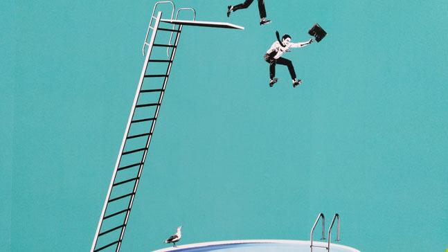 emprendimiento, salto a la piscina