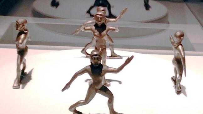 sócrates enamorado, escultura de gimnastas griegos