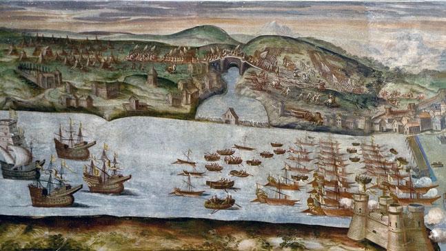 Luis Gorrochategui,batalla naval en puerto