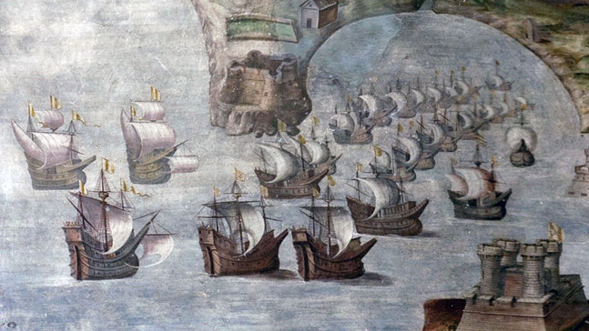 Luis Gorrochategui, batalla naval