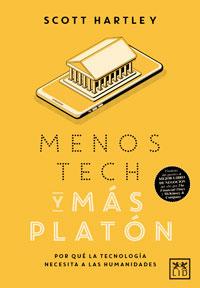 los diez mejores libros de empresa de 2020, portada de menos tech y más Platón